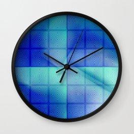 Blue shadows Wall Clock