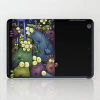 aliens iPad Cases featuring Crowded Aliens by Billy Allison