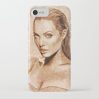 angelina jolie iPhone & iPod Cases featuring Angelina Jolie by Renato Cunha