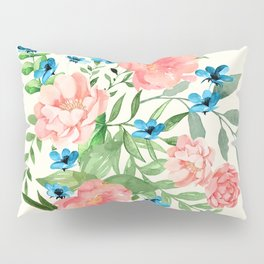 Watercolor Peonies Pillow Sham