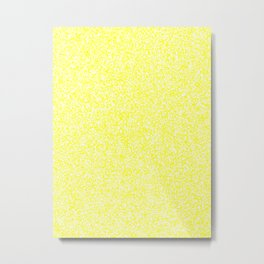 Spacey Melange - White and Yellow Metal Print