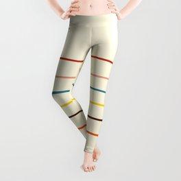 Abstract Retro Stripes #2 Leggings