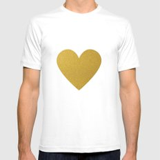 Heart of Gold MEDIUM White Mens Fitted Tee