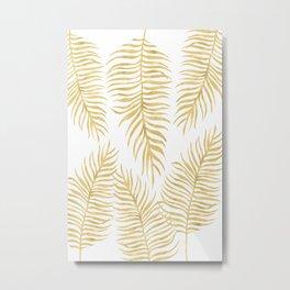 Fern Pattern Gold Metal Print