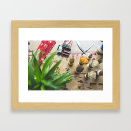 Mens Grooming Products Framed Art Print