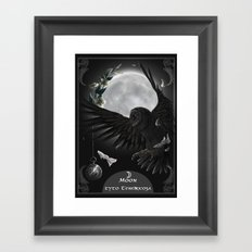solar owls moon  Framed Art Print