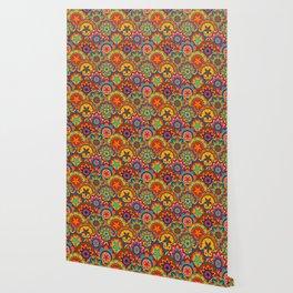 Funky Retro Pattern Mandalas Wallpaper