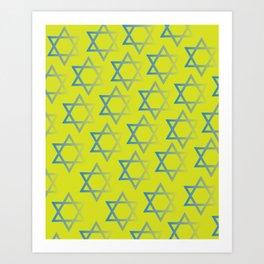 Jewish Stars Art Print