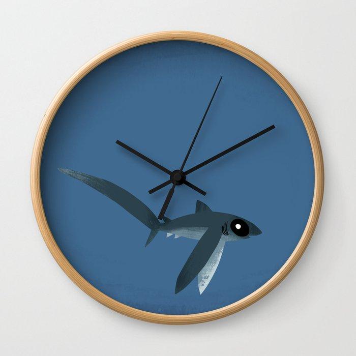 "FINconceivable Still ""Thresher"" Wall Clock"