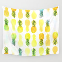 Pineapple Glow Wall Tapestry