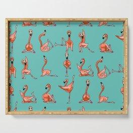 Flamingo Yoga Serving Tray