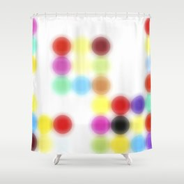 Ghost printing Dotty Shower Curtain