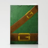 video game Stationery Cards featuring Video Game Poster: Adventurer by Justin D. Russo