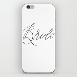 Lettered Bride iPhone Skin