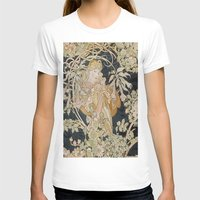 mucha T-shirts featuring 1898 - 1900 Femme a Marguerite by Alphonse Mucha by BookCollecting101