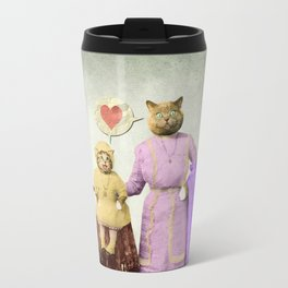 Momma Kitty Loves Her Kitten Travel Mug