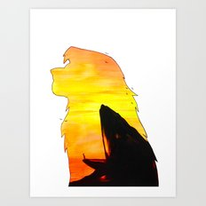 THE LION KING DOUBLE EXPOSURE Art Print