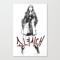 snsd Canvas Prints featuring Sooyoung SNSD by Noir0083