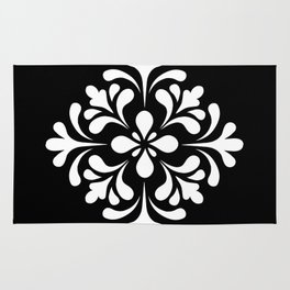 Black and white lace Rug