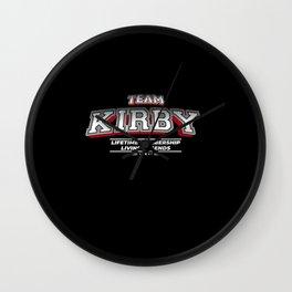 Team KIRBY Family Surname Last Name Member Wall Clock