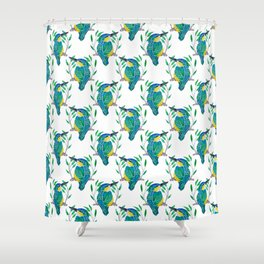 King of the Fishers  Shower Curtain