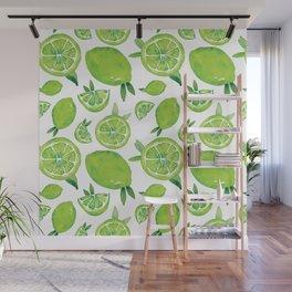 Zesty Lime Pattern Wall Mural