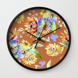 Fall Floral Jubilee Wall Clock