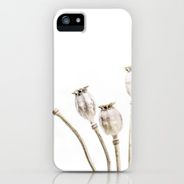 Neutral Poppies iPhone Case