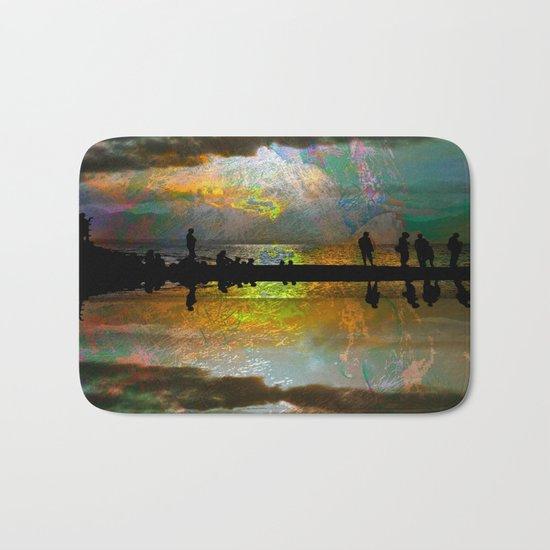 Abstract-art sunset Bath Mat