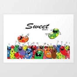 Sweet Beans Art Print