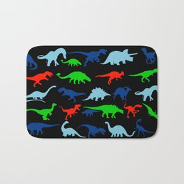 silhouettes of dinosaur pattern Bath Mat