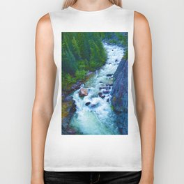 Astoria River in Jasper National Park, Canada Biker Tank