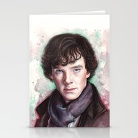 sherlock holmes Stationery Cards featuring Sherlock Holmes by Olechka
