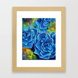 Colorful succulents Framed Art Print
