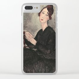 Portrait of Dedie Hayde by Amedeo Modigliani Clear iPhone Case