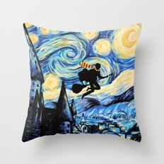 Potter Starry Night Throw Pillow