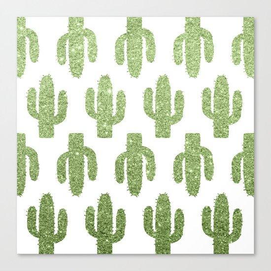 Glitter Cacti Canvas Print