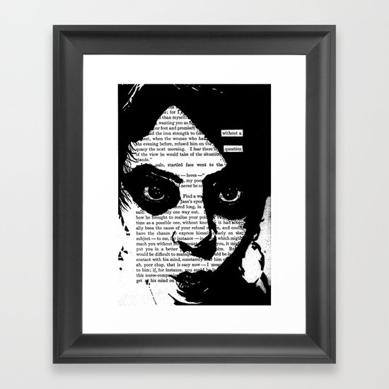Without a Question Framed Art Print