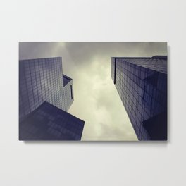 Modern architecture photography Urban photo City architecture Gray print Skyscrapers Metal Print