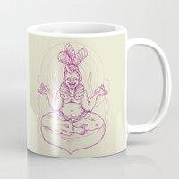 nirvana Mugs featuring Marshmallow nirvana by kami illustration