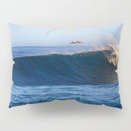 Sunrise surfing at Sunset Beach. Pillow Sham