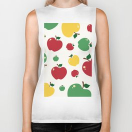 colourful apples Biker Tank