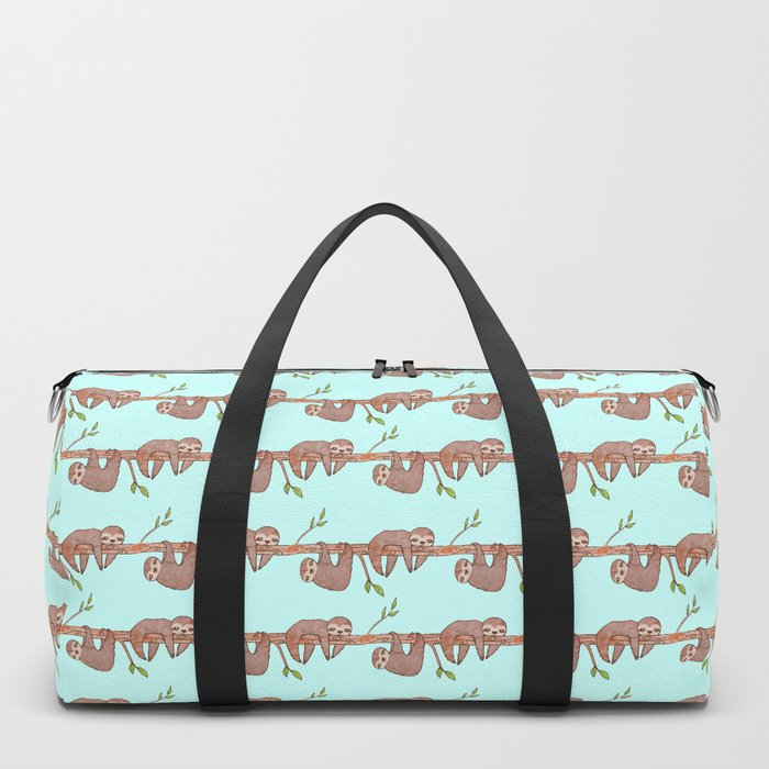 Lazy Baby Sloth Pattern Duffle Bag