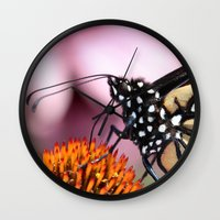 dentist Wall Clocks featuring Monarch Macro by IowaShots