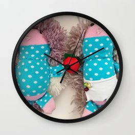 Hedgehogs Wall Clock