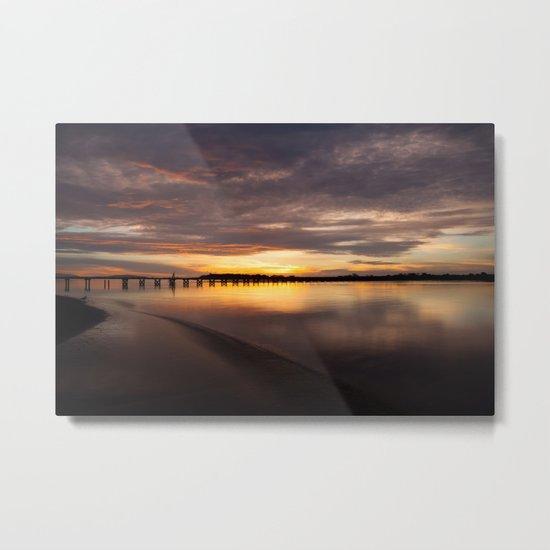 Elk River Sunset Metal Print
