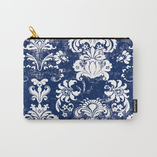 navy and white breeze Carry-All Pouch