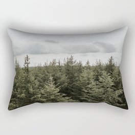 Dutch Forest Tree Tops   Colourful Travel Photography   Veluwe, Holland (The Netherlands) Rectangular Pillow