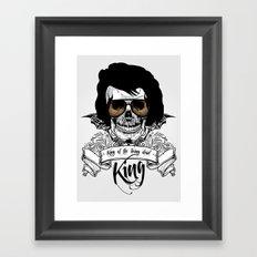 Elvis Presley   The King of the Living Dead Framed Art Print