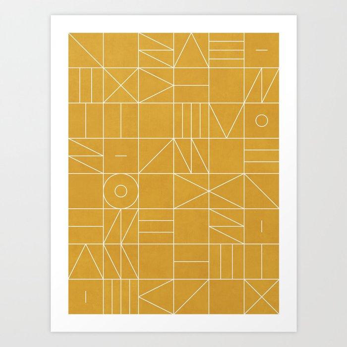 My Favorite Geometric Patterns No.4 - Mustard Yellow Art Print